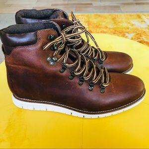 FOUR BROTHERS Edwin leather boots size 10.5